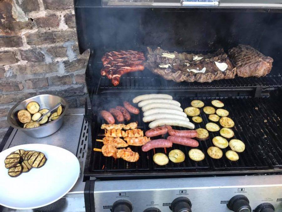 Feierliche Terrassen-Eröffnung mit BBQ